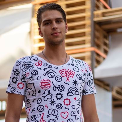 Picture of SZIGET // Men full-printed t-shirt